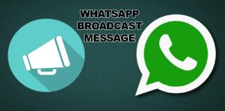 WhatsApp Broadcast
