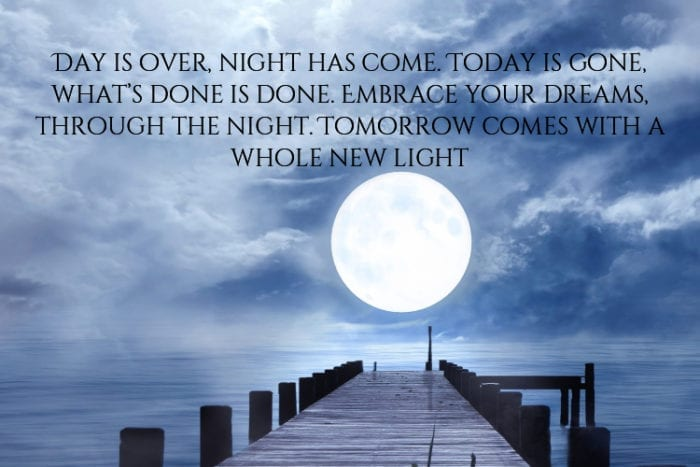 Inspirational Goodnight Quotes with Beautiful Images