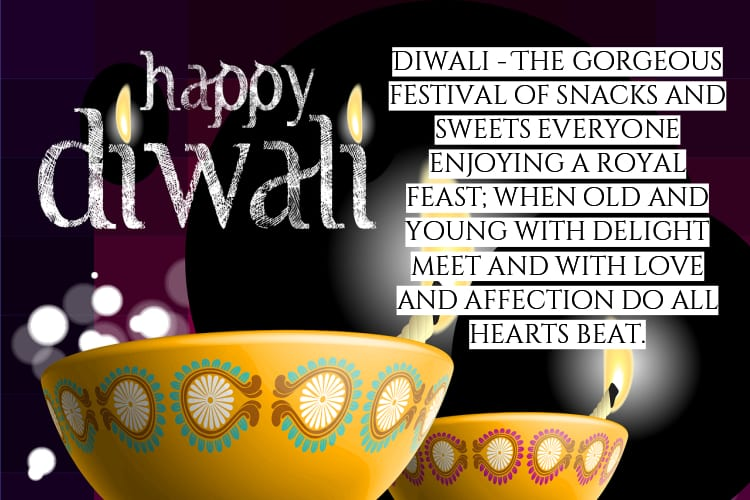 diwali image with quote