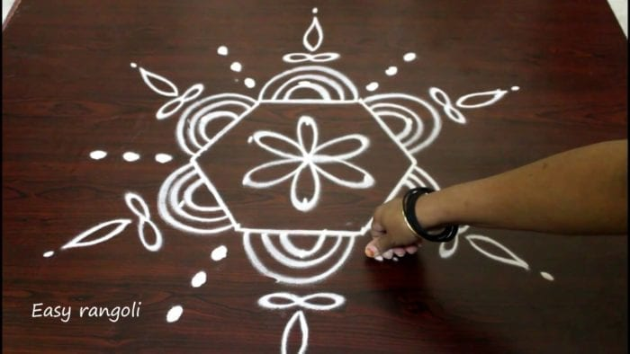 Dotted Rangoli Designs for Diwali