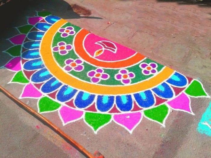 Easy Rangoli Designs for Diwali
