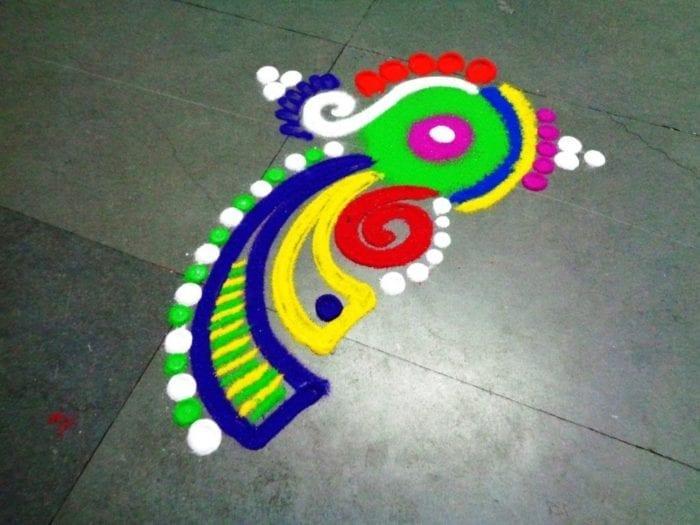 Small Rangoli Designs for Diwali 3