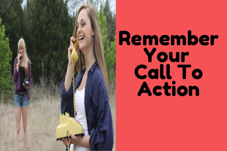 instagram call to action