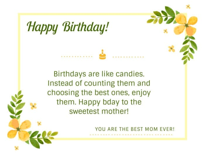 happy birthday wishes to mom