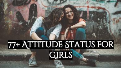 77 + Attitude Status for Girls