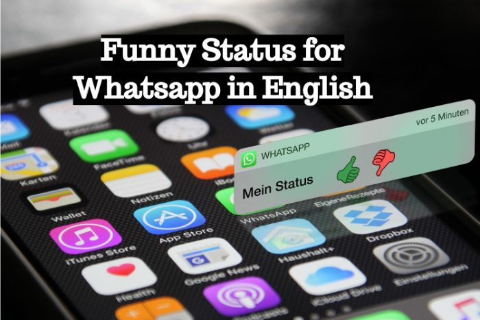 Funny Status for Whatsapp in English