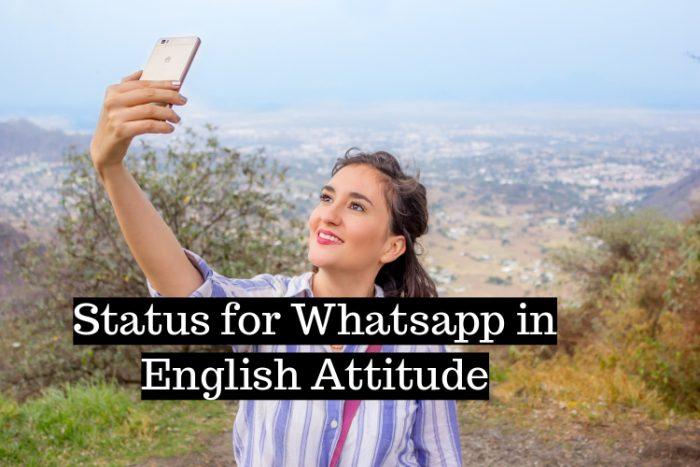 Status for Whatsapp in English Attitude