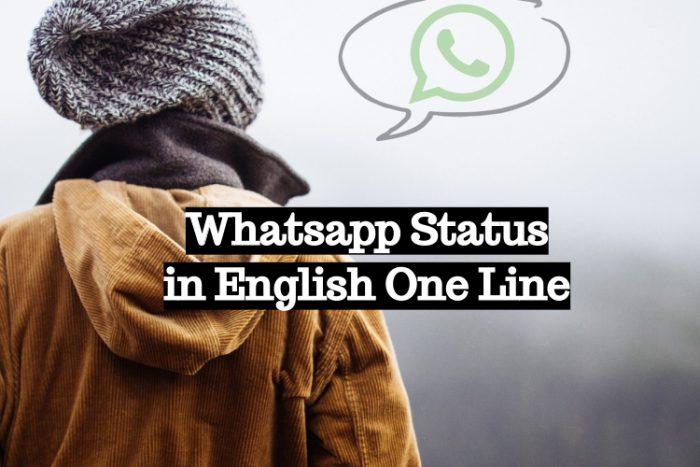 Whatsapp Status in English One Line