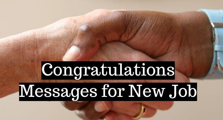 Congratulations Messages for New Job